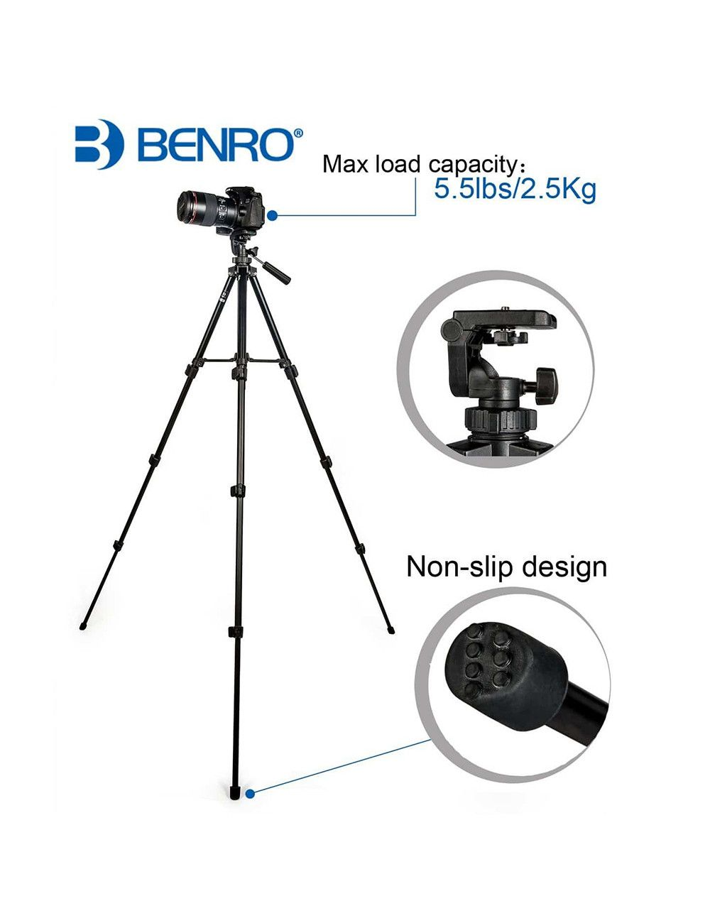 Canon Set de 2 lentes 50mm F1.8 STM + 75-300 F.4-5.6 III Compatibles con cualquier reflex canon