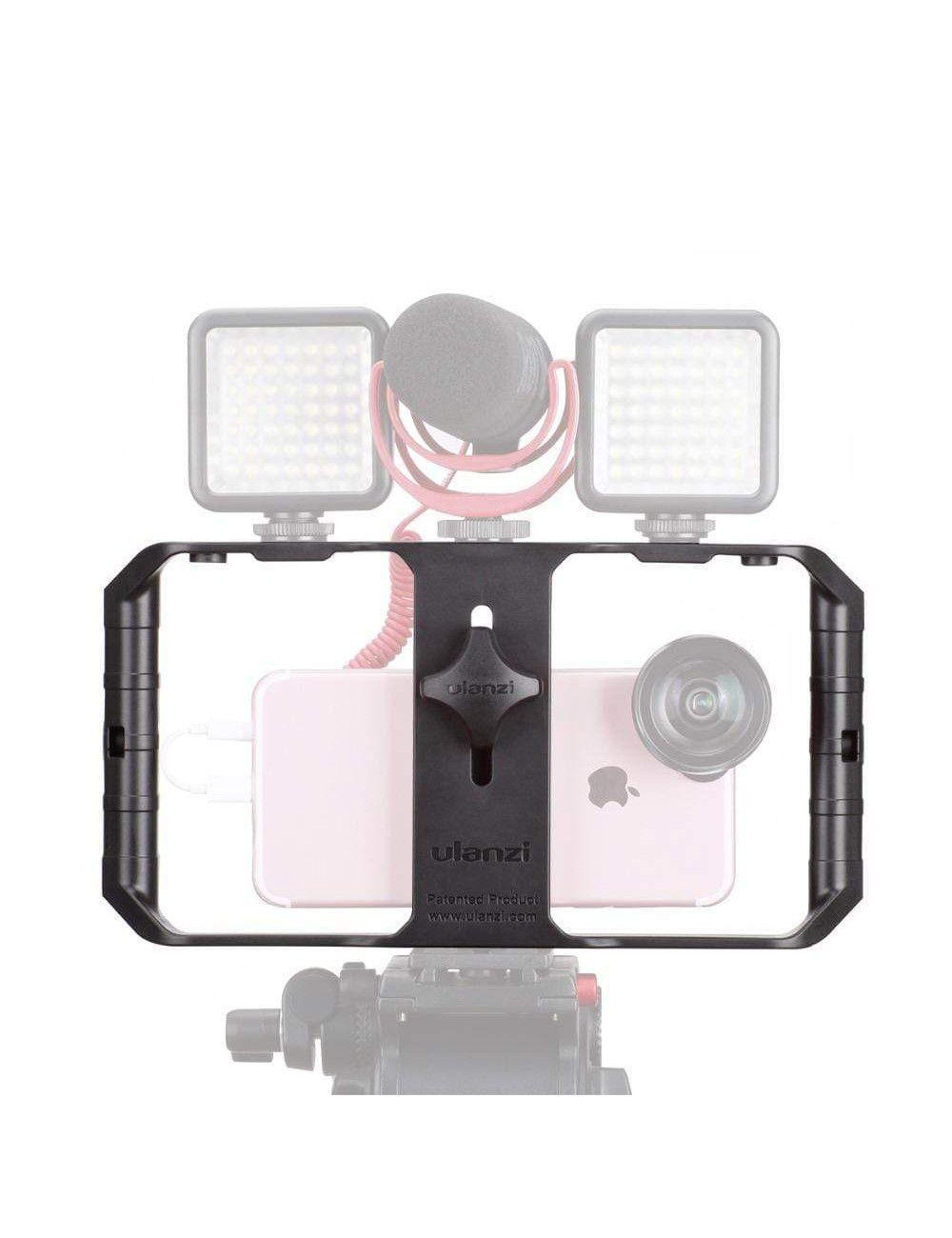 11 Pro 8 X para YouTube tubo de extensi/ón y micr/ófono de video Compatible con iPhone 11 7 y Android Equipo de video para tel/éfono inteligente BOYA BY-VG330 con mini tr/ípode Facebook Vlogging