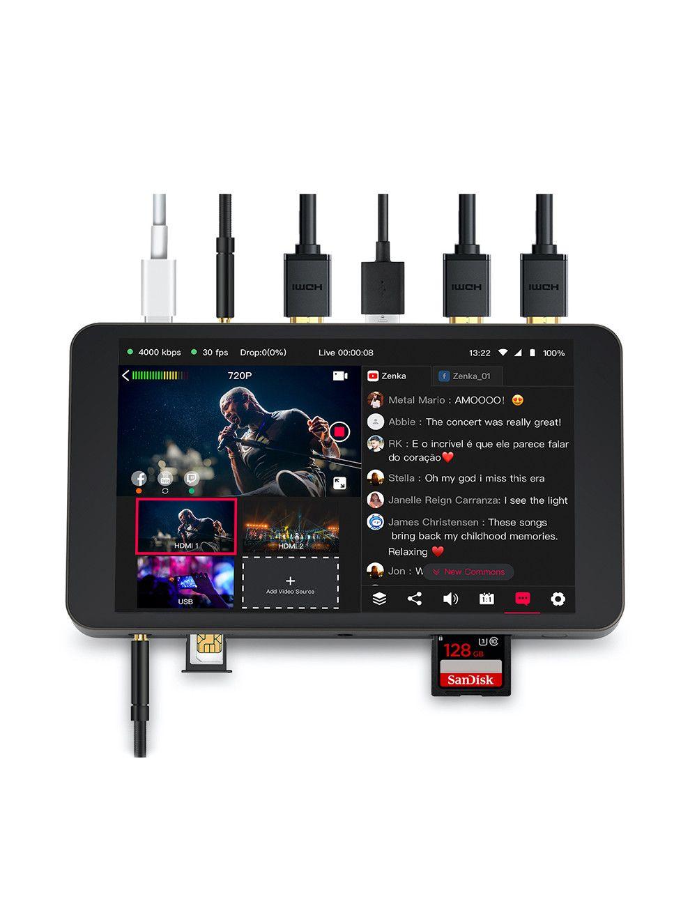 ZOOM SSH-6 Cápsula de micrófono shotgun estéreo para grabadoras Zoom H5, H6 y Q8